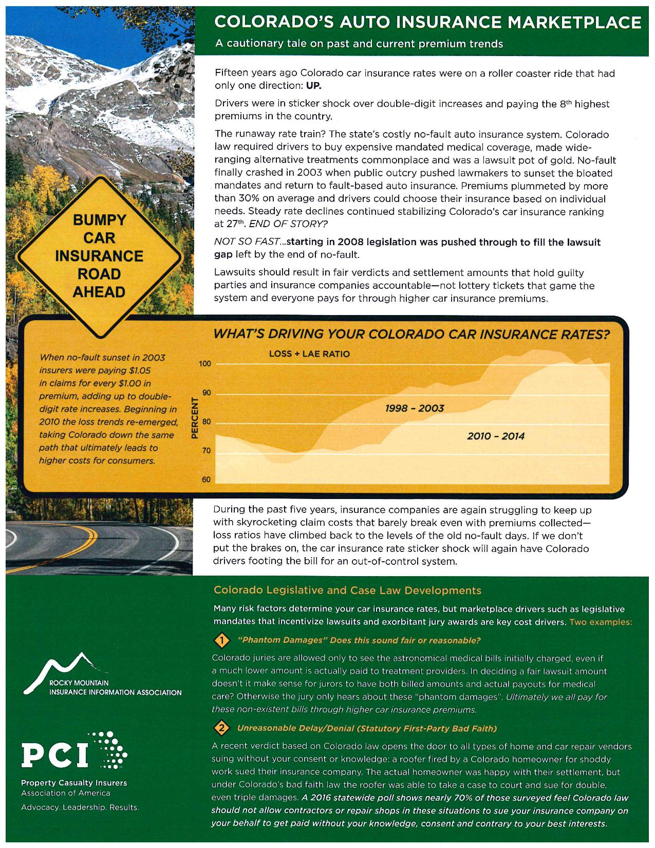 Colorado Auto Insurance Marketplace Flyer